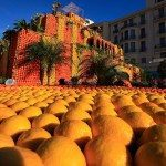It takes more than 145 tons of fruit and 300 professionals to create the giant designs, made only of citrus fruits, at the 78th Lemon Festival.. Getty