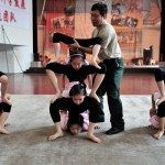 Students train at the Shenyang Qianjin Acrobatic School in Shenyang, Liaoning province in China.