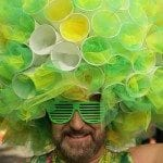 A man wears a home made costume at the Gay Pride parade on July 5, 2008 in London, England. The parade consists of celebrities, floats, and performers celebrating the UK's largest gay and lesbian festival.. Peter Macdiarmid/Getty Images