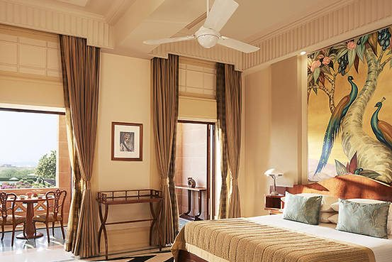 The bedroom in the Royal Suite at Umaid Bhawan Palace in Jodhpur seen in November 2014. Jaideep Oberoi