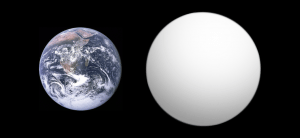 """""""Exoplanet Comparison Kepler-10 b"""" by Aldaron, a.k.a. Aldaron, inspired by Thingg's size comparison. Licensed under CC BY-SA 3.0 via Wikimedia Commons."""