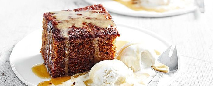 Sticky Orange, Ginger & Date Pudding