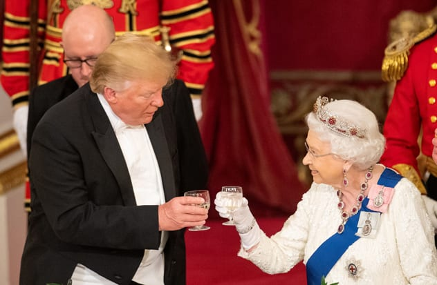 A state banquet was held at Buckingham Palace in Trump's honour the day his helicopters are said to have damaged the palace lawn. REUTERS