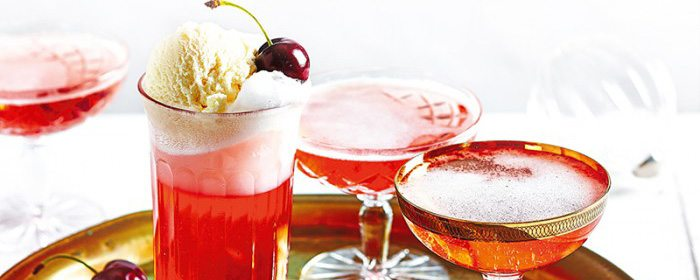 Cherry Champagne Bellinis Cherry Spiders